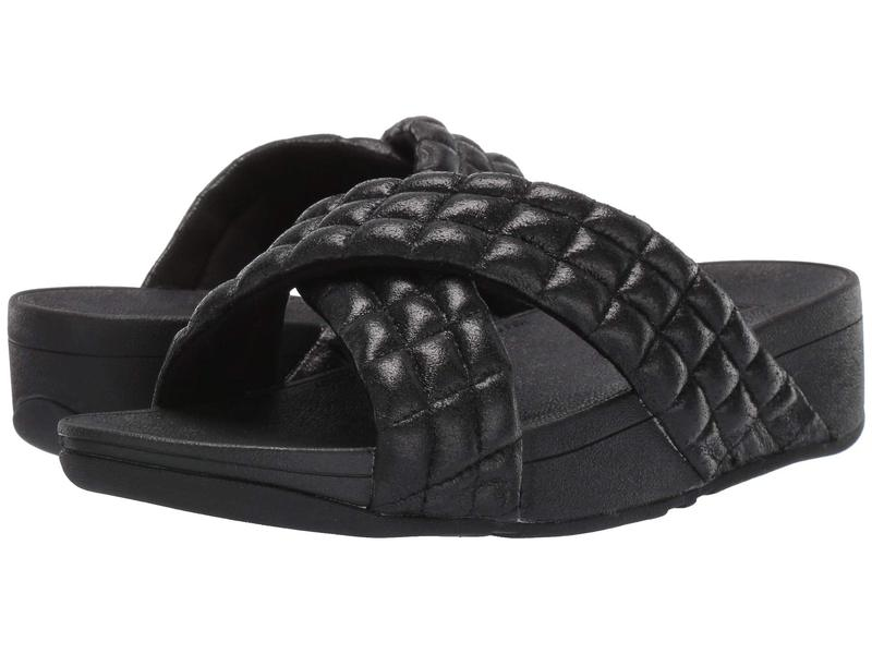 フィットフロップ レディース サンダル シューズ Lulu Padded Shimmy Suede Slides All Black