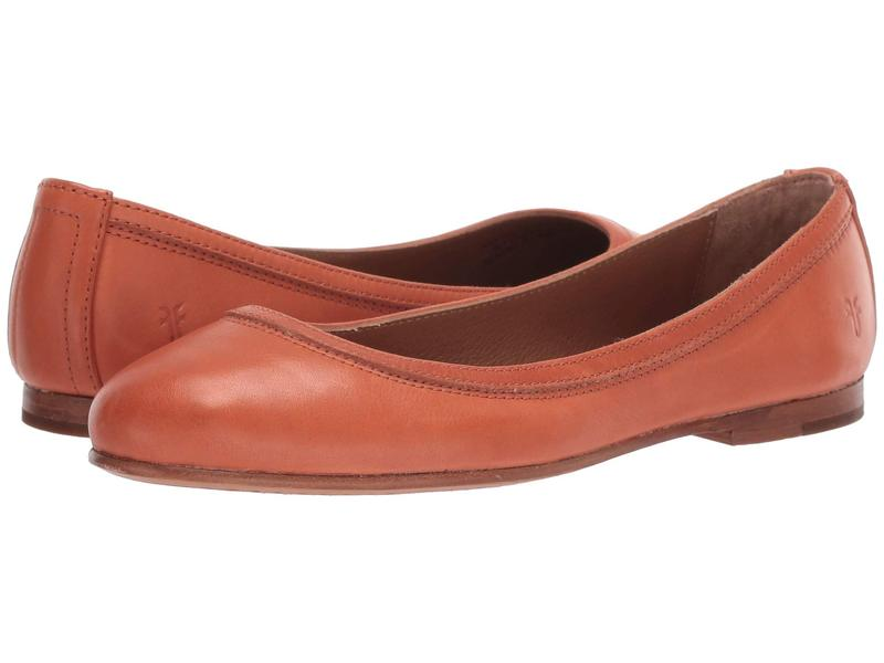 フライ レディース サンダル シューズ Carson Ballet Sunset Orange Polished Soft Full Grain