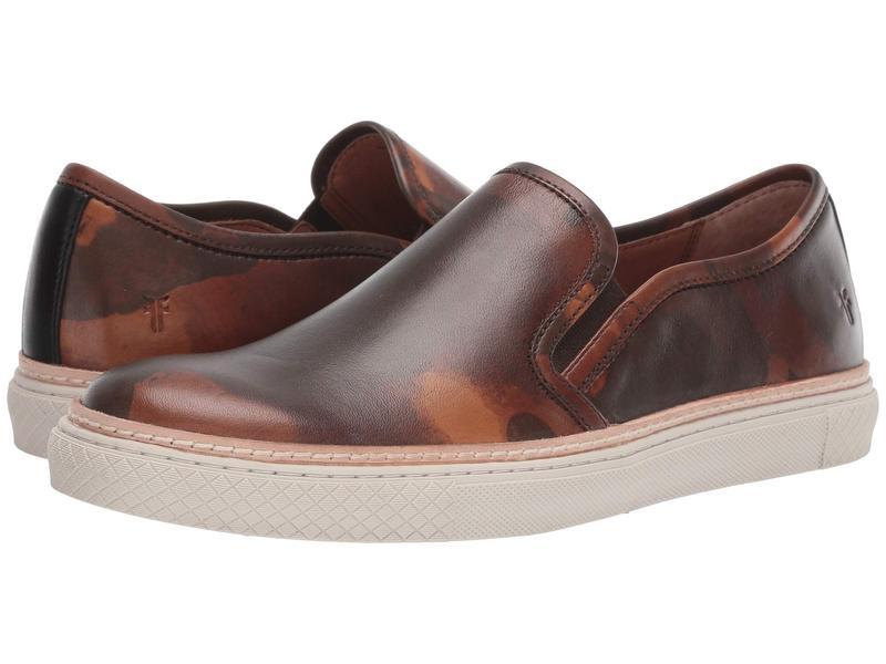 フライ メンズ スニーカー シューズ Essex Slip-On Camo Printed Veg Tan