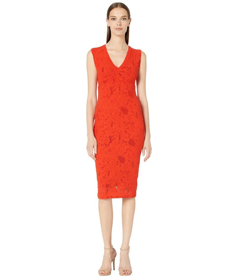 フィッジ レディース ワンピース トップス Sleeveless V-Neck Stretch Lace Dress Rubino