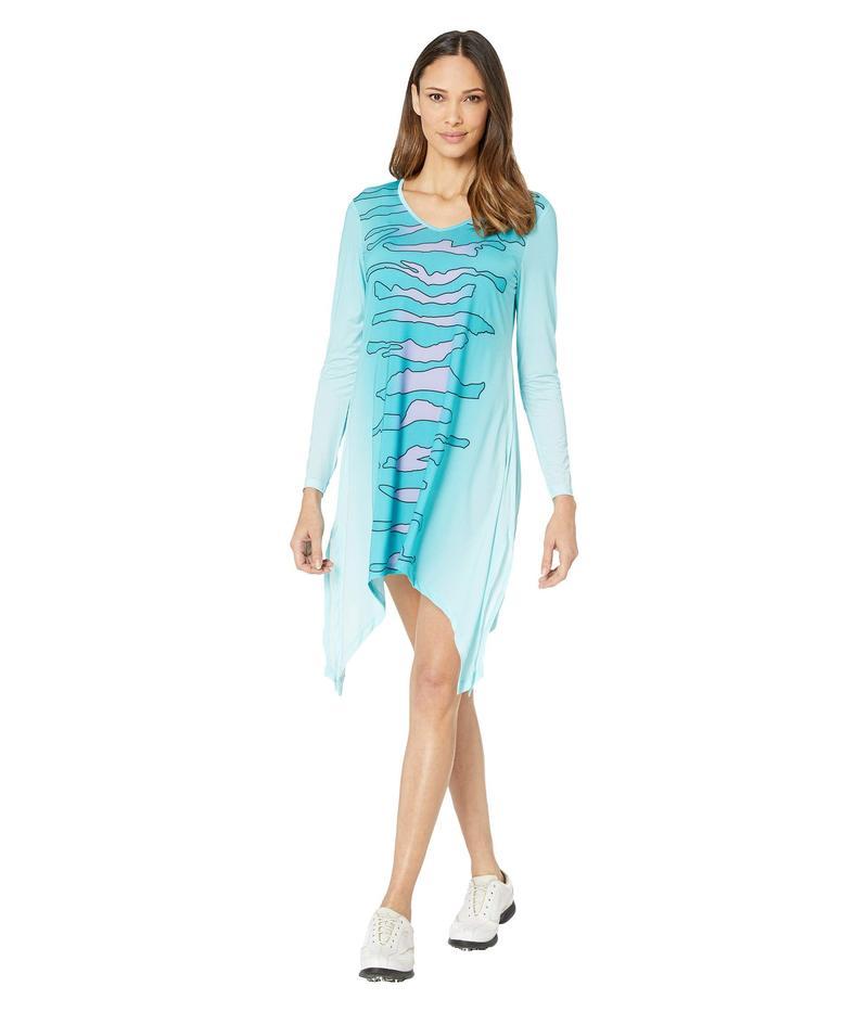 ジャイミーサドック レディース ワンピース トップス Sunsense 50 UVP Zebra Print Long Sleeve Dress Serrnity