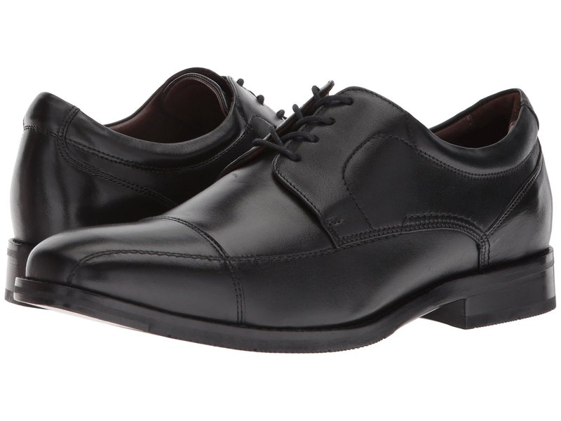ジョンストンアンドマーフィー メンズ オックスフォード シューズ Bartlett Casual Dress Cap Toe Oxford Black Full Grain