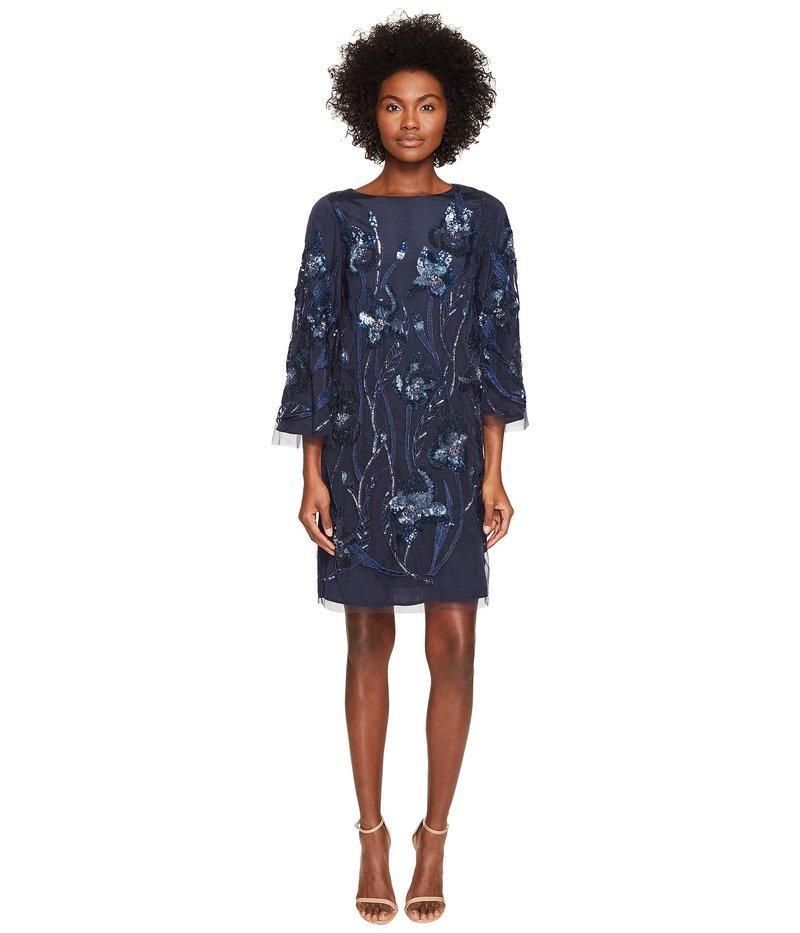 マルケサノット レディース ワンピース トップス 3/4 Sleeve Tunic Dress w/ Embroidery Detail Navy