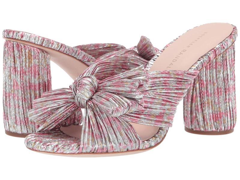 ロフラー ランダル レディース ヒール シューズ Penny Pleated Knot Mule Pink Multi Floral Pleated Lame