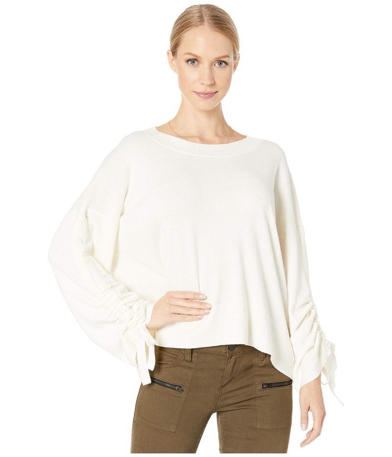 マイケルスターズ レディース ニット・セーター アウター Verona Knits Cecily Crew Neck Pullover Sweater with Adjustable Sleeves Chalk