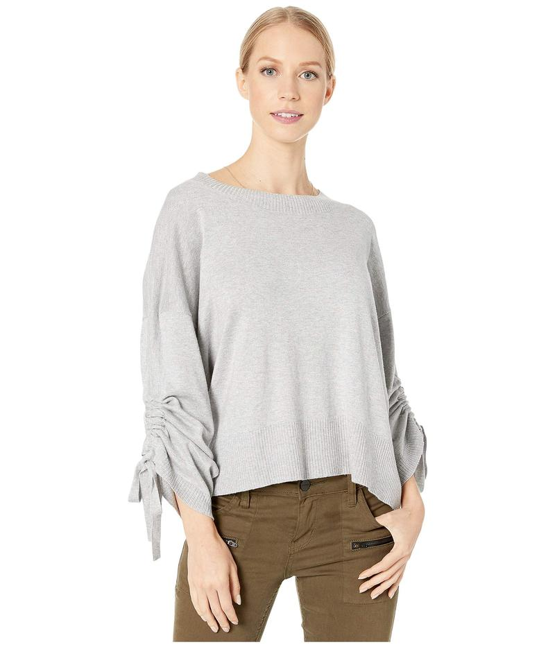 マイケルスターズ レディース ニット・セーター アウター Verona Knits Cecily Crew Neck Pullover Sweater with Adjustable Sleeves Heather Grey