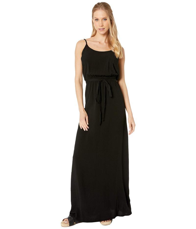 マイケルスターズ レディース ワンピース トップス Modern Rayon Spaghetti Strap Scoop Neck Maxi Dress Black