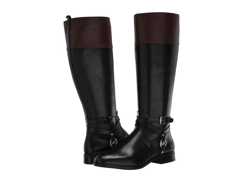 マイケルコース レディース ブーツ・レインブーツ シューズ Preston Boot - Wide Shaft Black/Brown