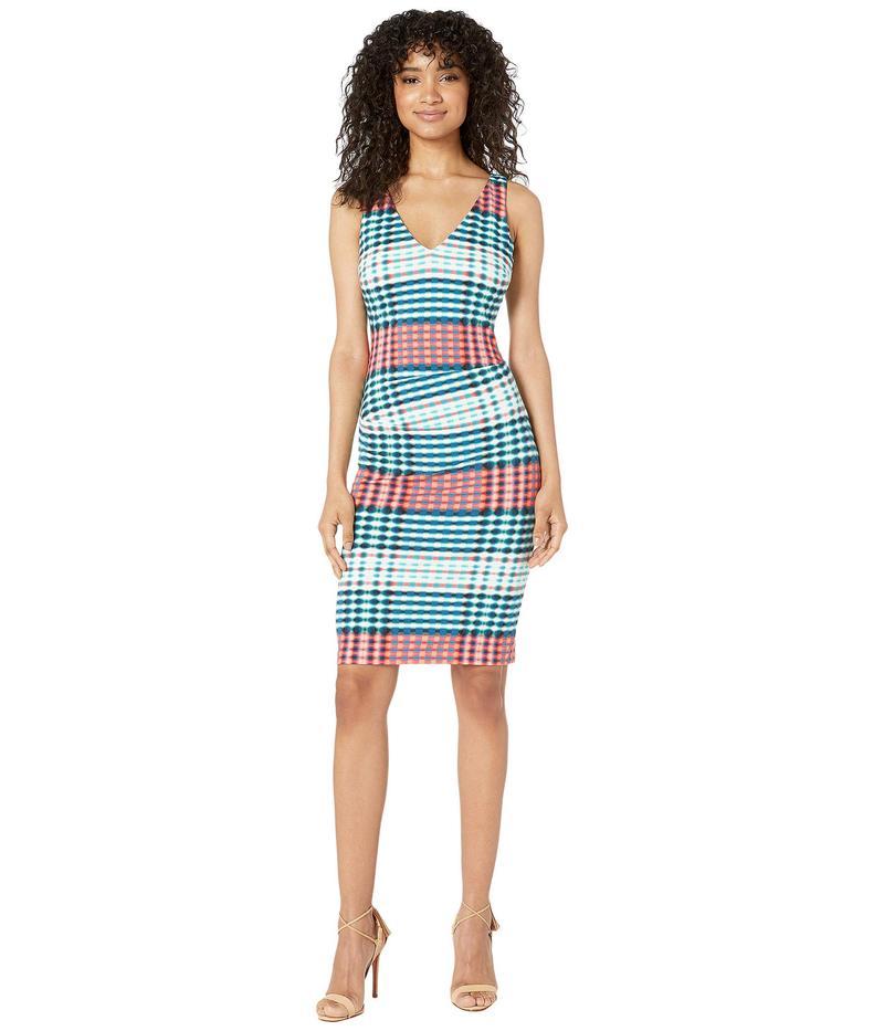 ニコルミラー レディース ワンピース トップス V-Neck Hip Tuck Dress Multicolor