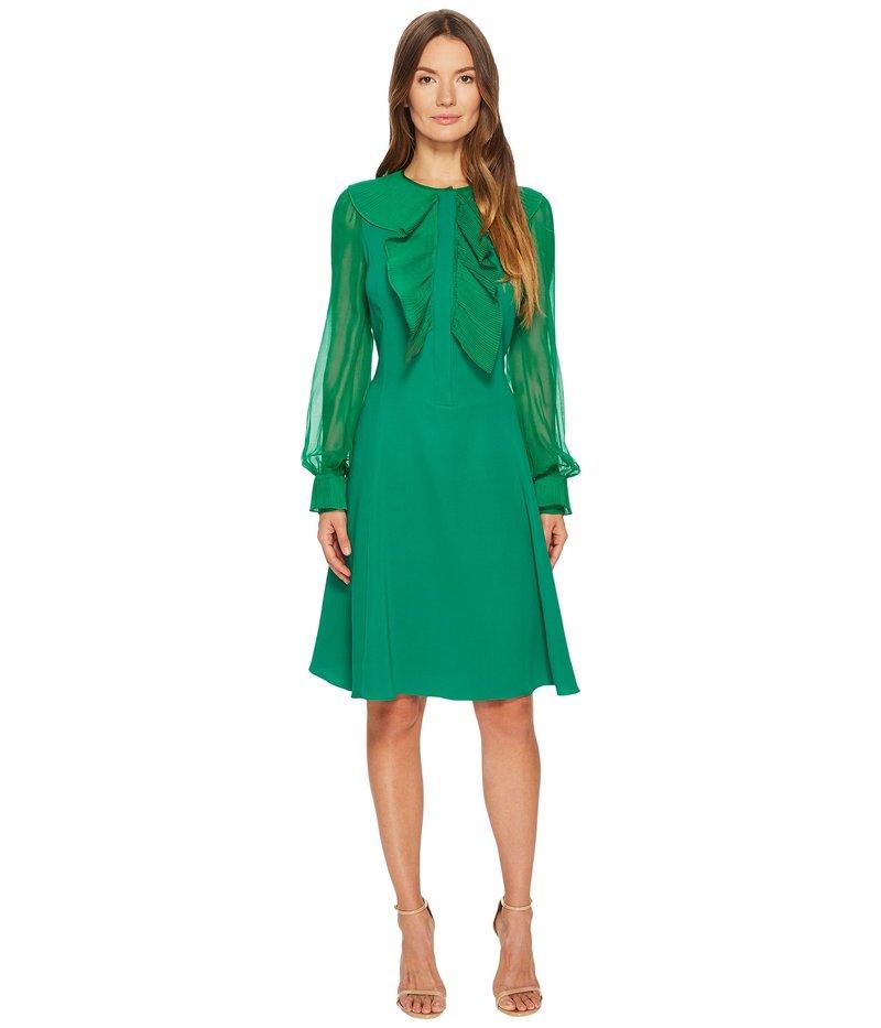 プラバルグラング レディース ワンピース トップス Silk Cady Long Sleeve Dress Emerald