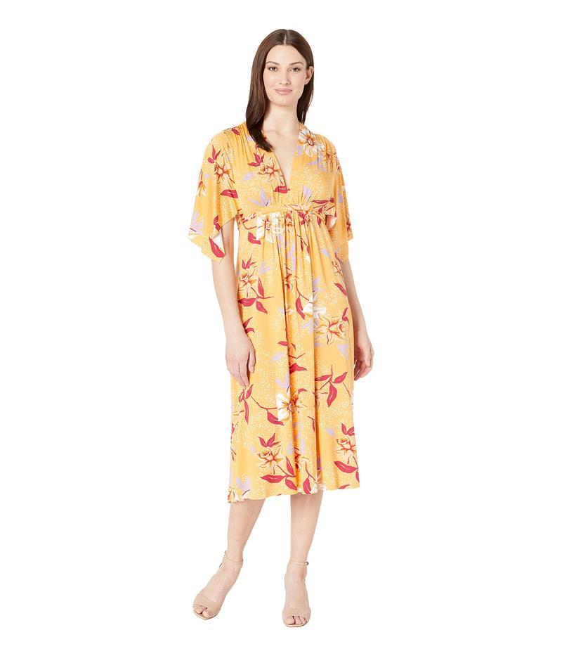 レイチェルパリー レディース ワンピース トップス Mid Length Caftan Dress Daffodil Print