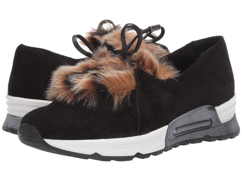 セストメウッシー レディース スニーカー シューズ Pegah CO1 Black Zabby/Beige Pikka Faux Fur/Black Calf