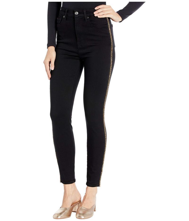 セブンフォーオールマンカインド レディース カジュアルパンツ ボトムス Aubrey Caviar Side in Slim Illusion Luxe Black Slim Illusion Luxe Black