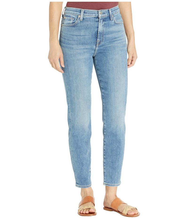 セブンフォーオールマンカインド レディース デニムパンツ ボトムス Luxe Vintage High Waist Slim Jeans in Beau Blue Beau Blue