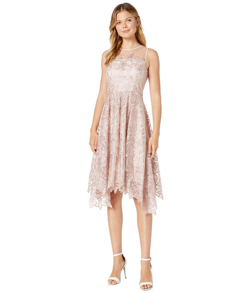 タハリ レディース ワンピース トップス Midi Length Novelty Embroidered Dress Dusty Rose Floral