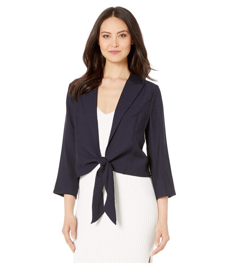 ヴィンスカムート レディース コート アウター Tie Front Rumple Sportswear Soft Jacket Classic Navy