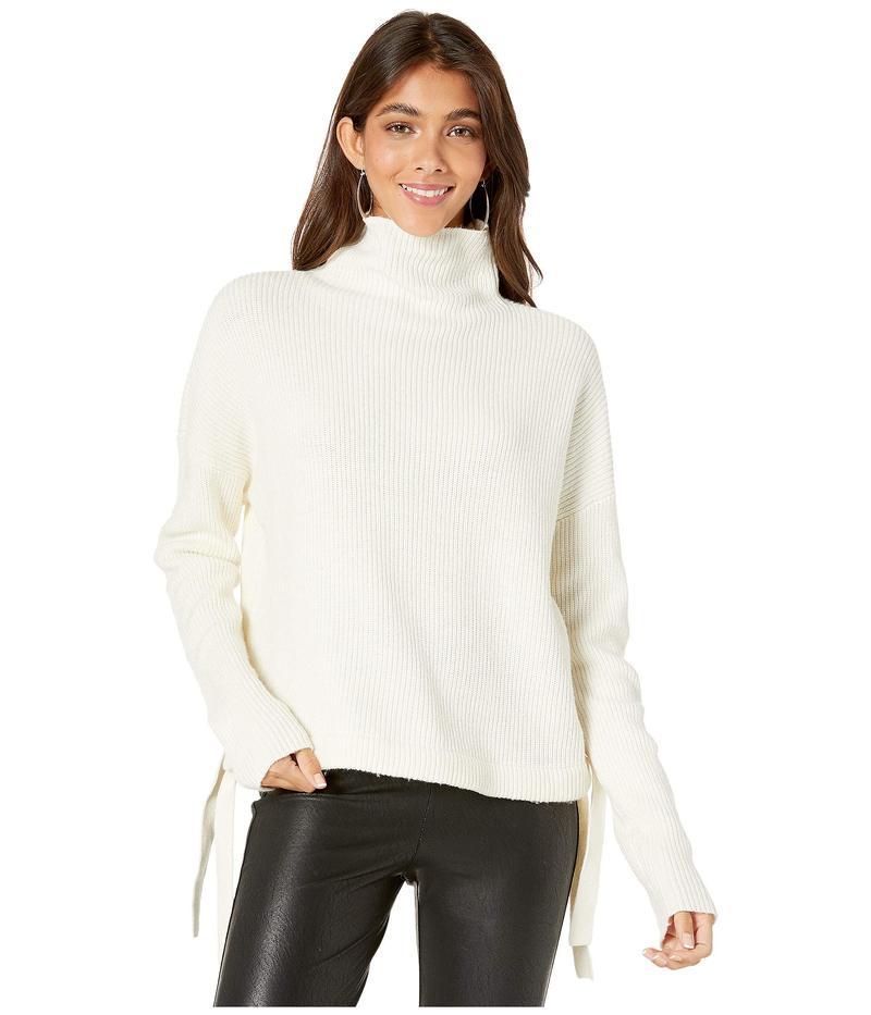 ビーシービージーマックスアズリア レディース ニット・セーター アウター Long Sleeve Pullover Sweater with Tie Detail Gardenia