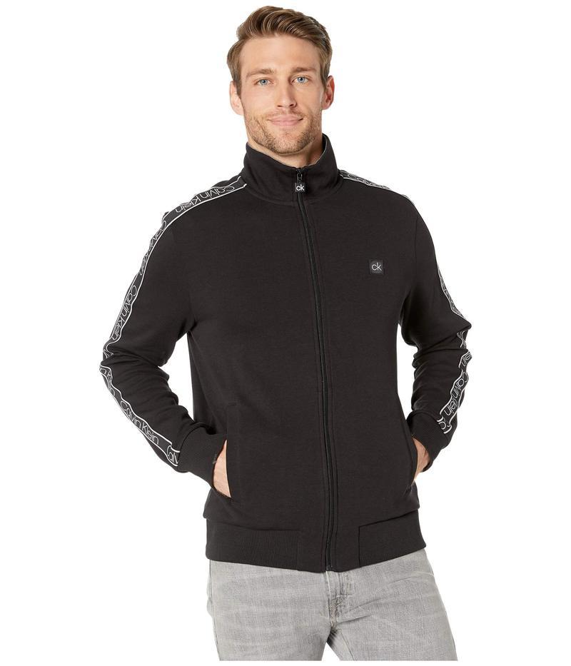 カルバンクライン メンズ コート アウター Athletic Knit Sweatshirt Black