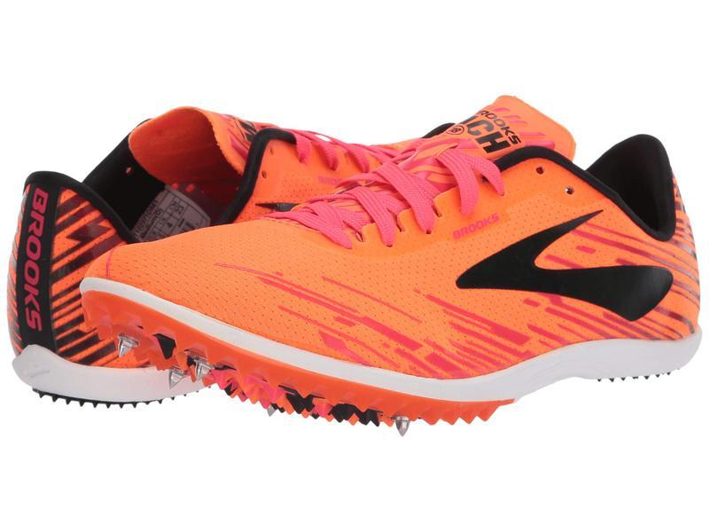 ブルックス メンズ スニーカー シューズ Mach 18 Orange/Pink/Black