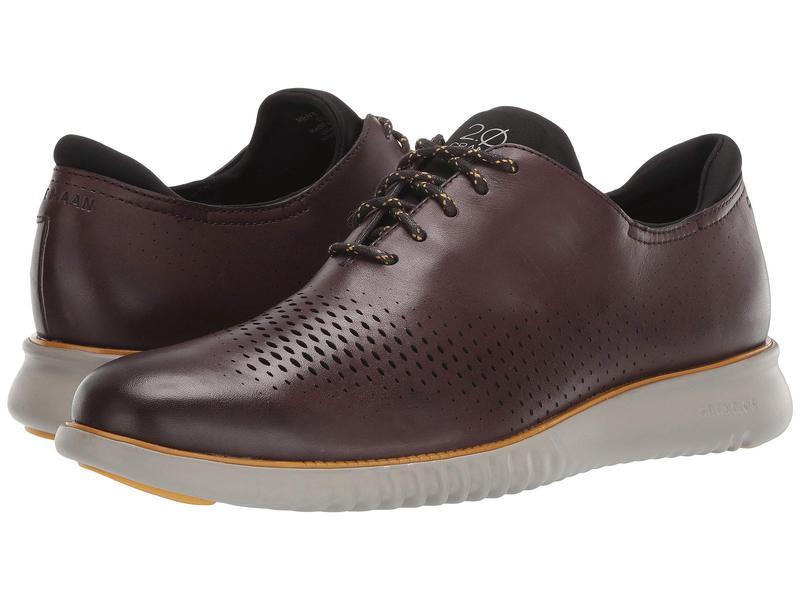 コールハーン メンズ オックスフォード シューズ 2.Zerogrand Laser Wing Oxford CH Black Walnut Leather