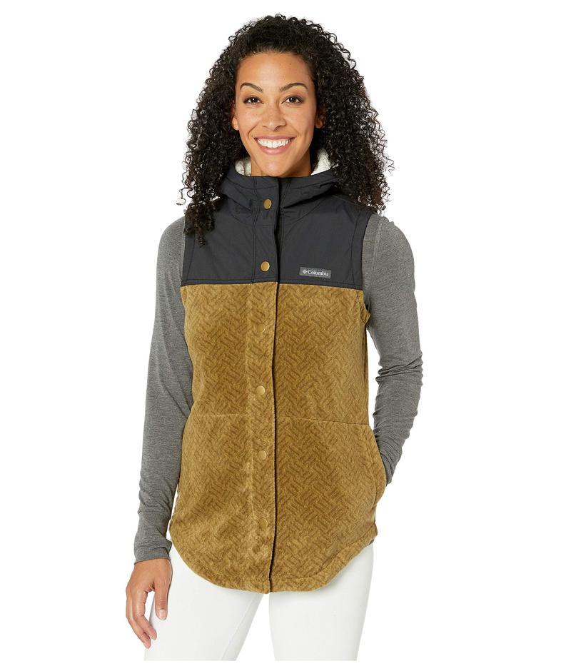 コロンビア レディース コート アウター Benton Springs¢ Overlay Vest Olive Green Texture Print/Black