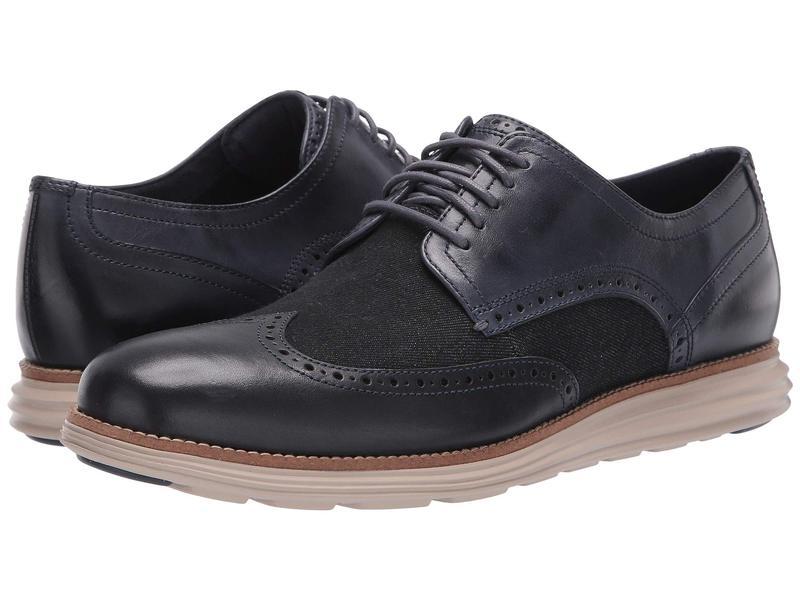 コールハーン メンズ オックスフォード シューズ Original Grand Wingtip Oxford Ombre Blue Leather/Denim/Cobblestone