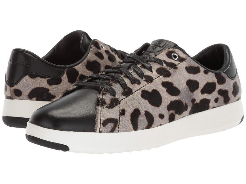 コールハーン レディース スニーカー シューズ GrandPro Tennis Sneaker Ocelot Haircalf/Black Leather