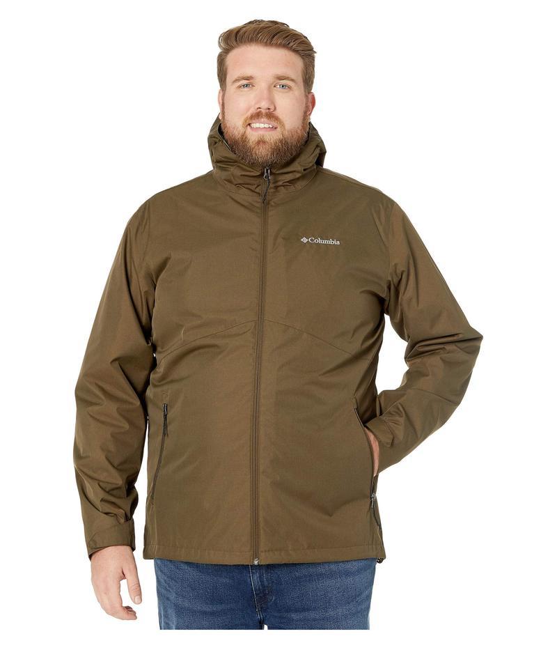 コロンビア メンズ コート アウター Big & Tall Rainie Falls¢ Jacket Olive Green/Black Sherpa