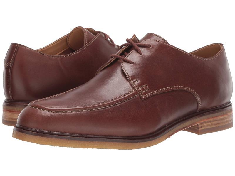 クラークス メンズ オックスフォード シューズ Clarkdale Apron Dark Tan Leather