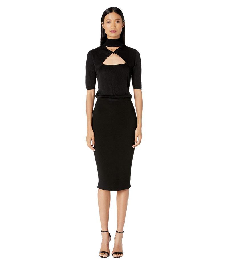 大注目 クシュニーエオクス レディース ワンピース トップス Short Sleeve Mock Sleeve ワンピース Neck Dress Knit Pencil Dress Black:ReVida 店, 十和田湖町:91f488b4 --- triplemotionmedia.nl