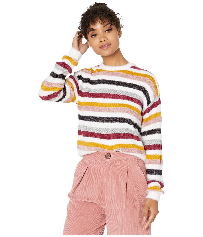 カップケーキアンドカシミア レディース ニット・セーター アウター Rach Multi Stripe Crew Neck Sweater Ivory
