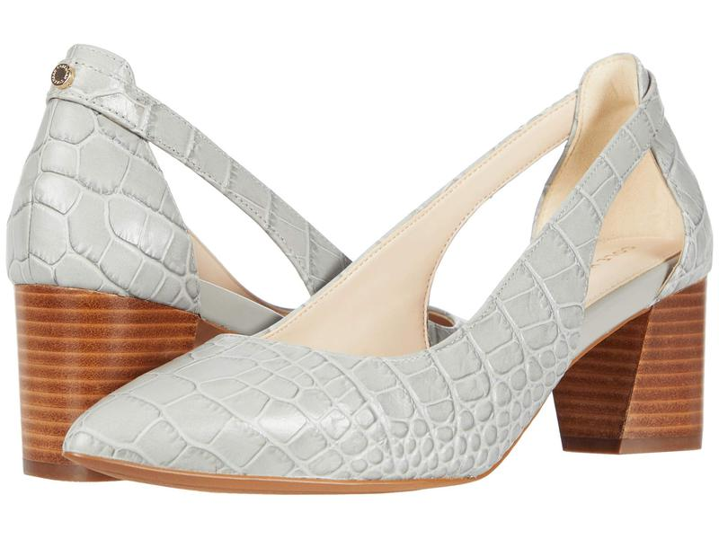 コールハーン レディース ヒール シューズ Emilee Pump 55 mm Limestone Embossed Croco Print Leather