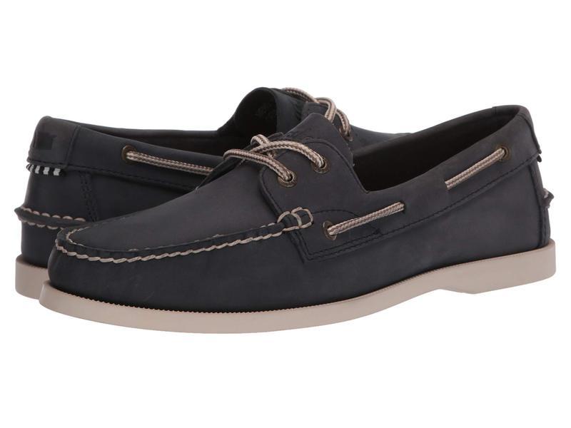 フローシャイム メンズ デッキシューズ シューズ Nevis Two Eye Boat Shoe Navy