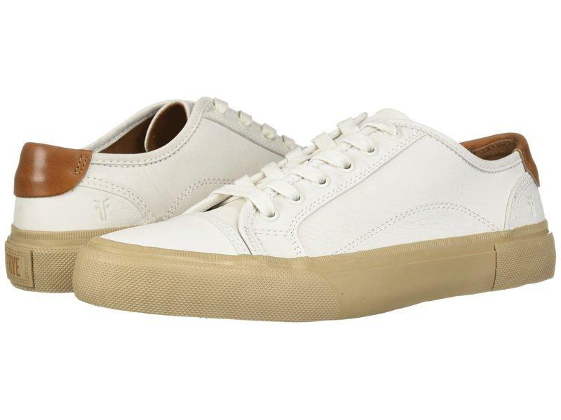 フライ メンズ スニーカー シューズ Ludlow Cap Lowlace White Sheep Leather