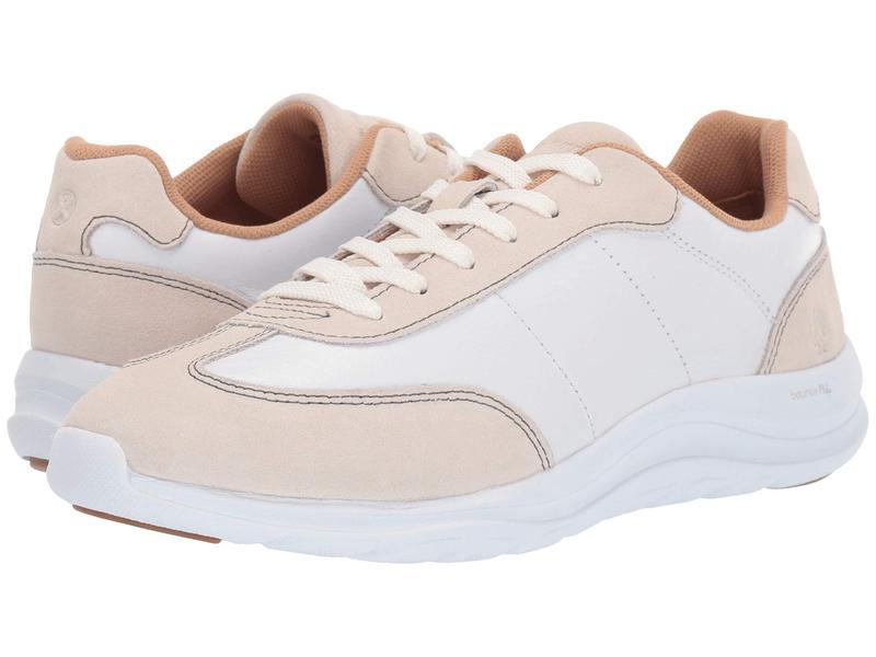 ハッシュパピー レディース スニーカー シューズ Cassidy Sneaker Ivory Suede/White Leather