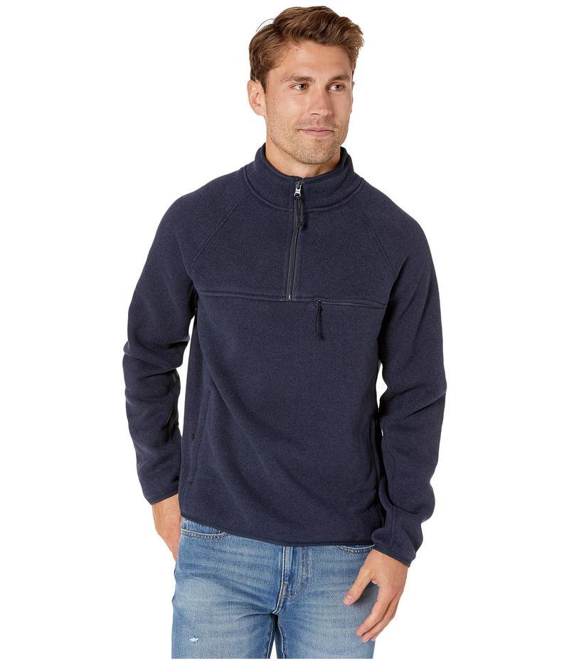 ジェイクルー メンズ コート アウター Nordic Half-Zip Jacket in Polartec Fleece Marled Navy Blazer