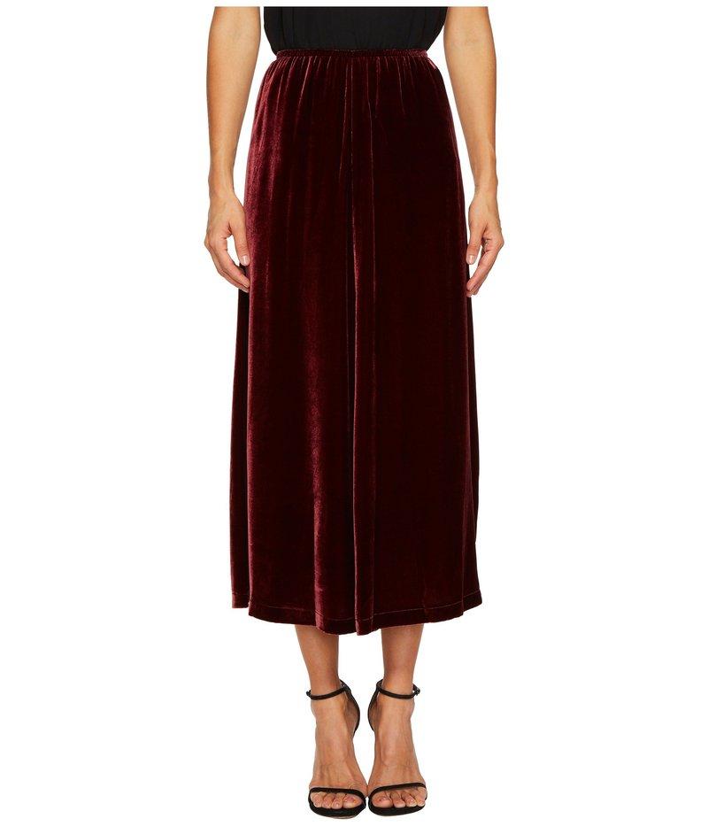 アレキサンダー・マックイーン レディース スカート ボトムス Velvet Fluid Gather Skirt Wine