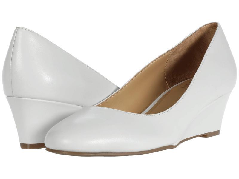 ナチュライザー レディース ヒール シューズ Pilar White Leather
