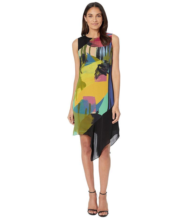 ニコルミラー レディース ワンピース トップス Abstract Paint Asymmetrical Dress Multicolor