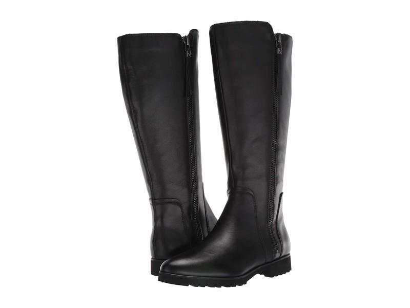 ナチュライザー レディース ブーツ・レインブーツ シューズ Gael Wide Calf Black Leather