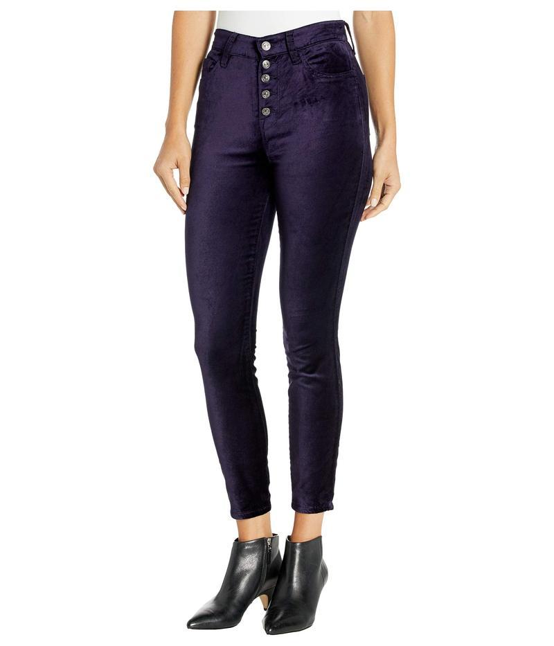 セブンフォーオールマンカインド レディース デニムパンツ ボトムス High Waist Ankle Skinny Exposed Button Royal Purple