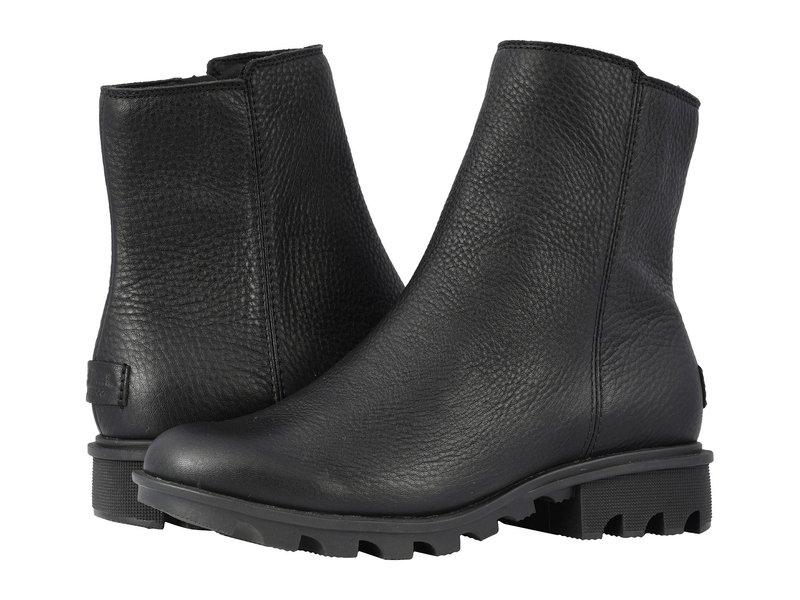 ソレル レディース ブーツ・レインブーツ シューズ Phoenix¢ Zip Black Full Grain Leather