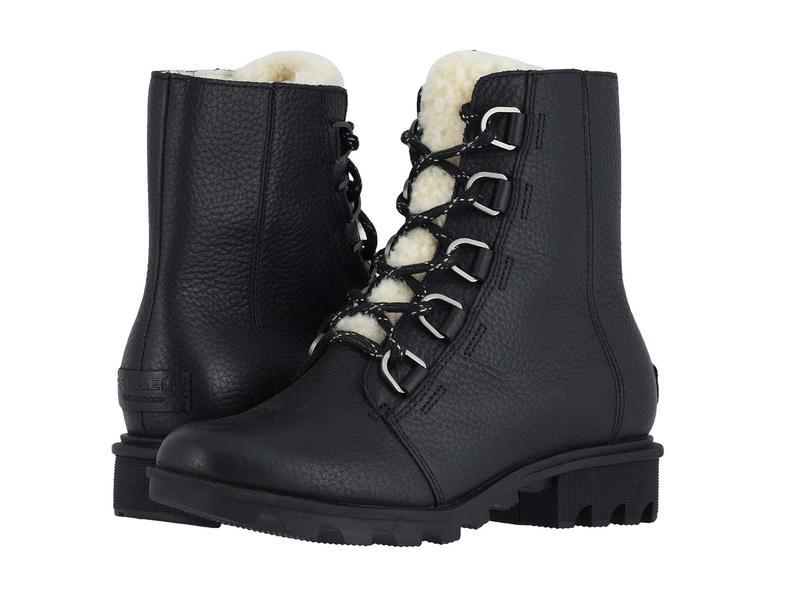 ソレル レディース ブーツ・レインブーツ シューズ Phoenix¢ Short Lace Cozy Black