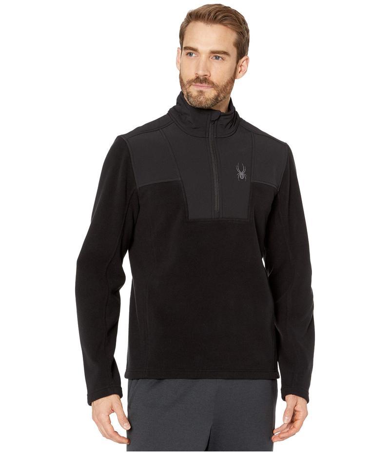 スパイダー メンズ コート アウター Basin 1/2 Zip Fleece Jacket Black