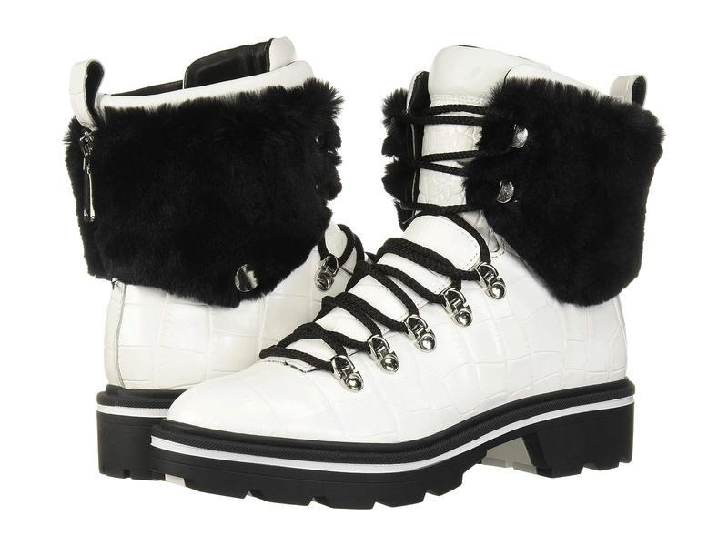 シガーソン モリソン レディース ブーツ・レインブーツ シューズ Macre 2 White Leather/Faux Fur