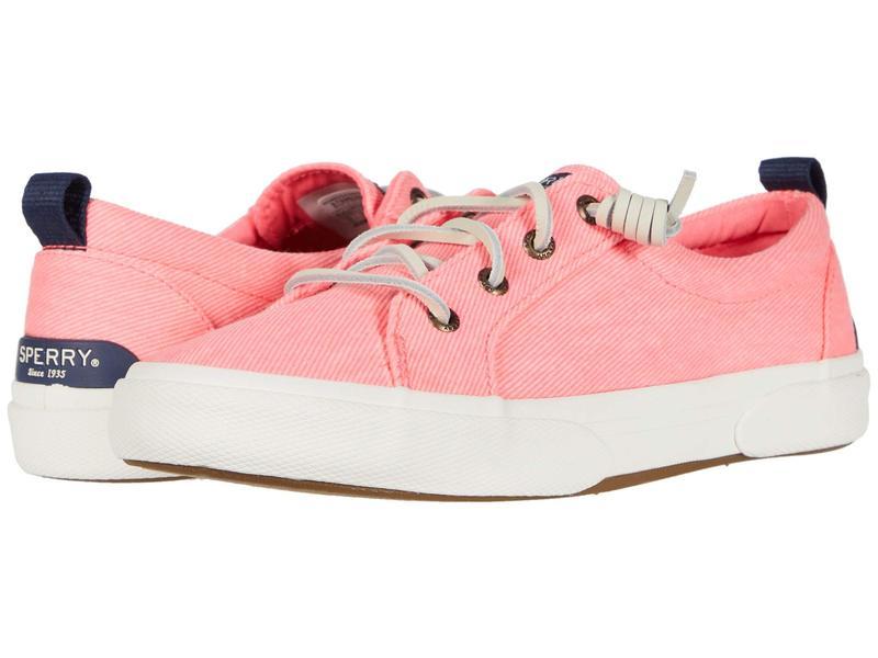 スペリー レディース スニーカー シューズ Pier Wave LTT Washed Twill Brights Pink