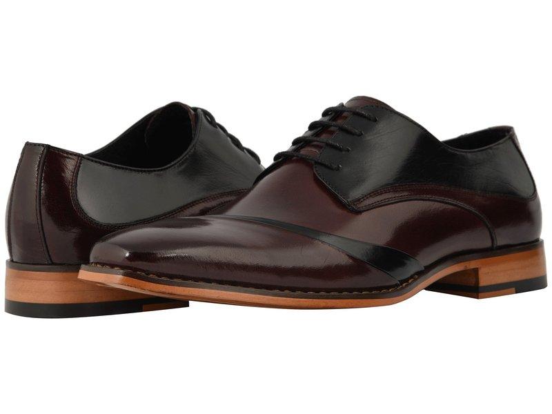 ステイシーアダムス メンズ オックスフォード シューズ Talmadge Lace Up Oxford Burgundy/Black