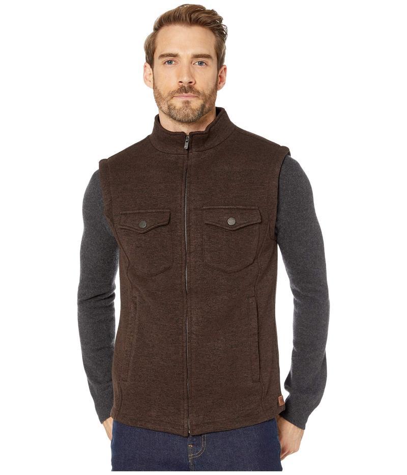 ノーマルブランド メンズ コート アウター Lincoln Fleece Vest Brown