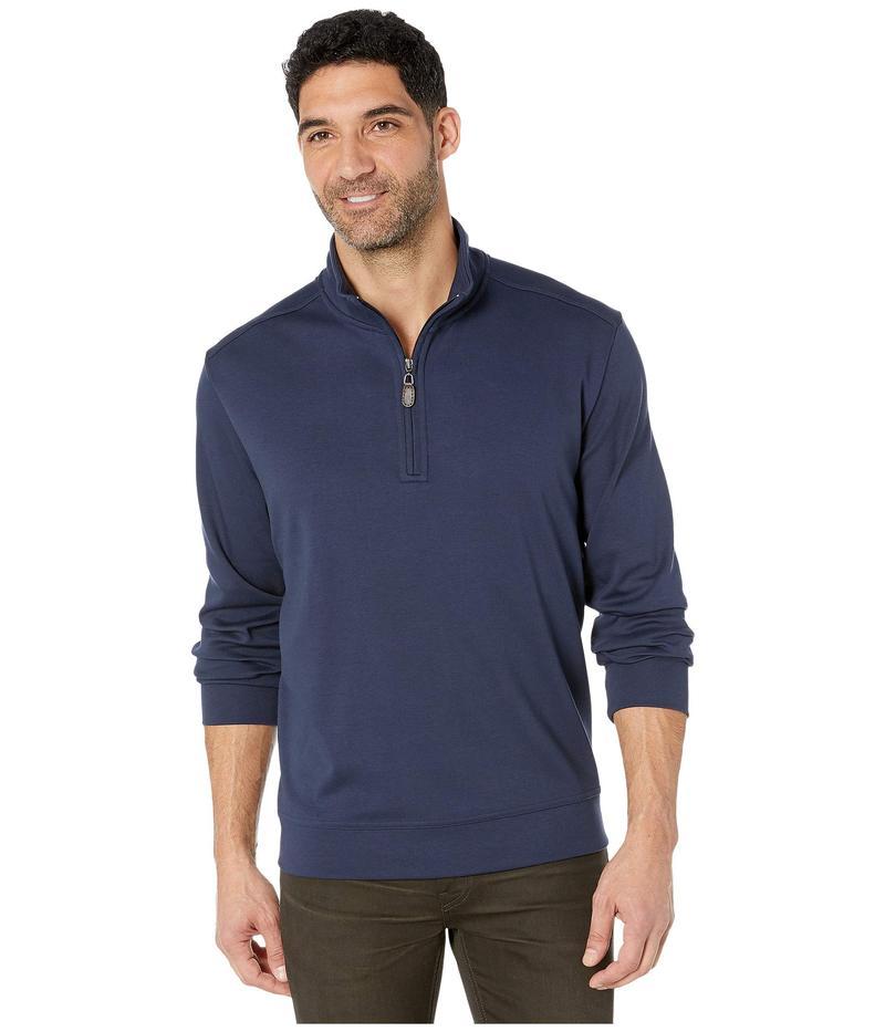 トッミーバハマ メンズ ニット・セーター アウター Martinique 1/2 Zip Sweater Ocean Deep