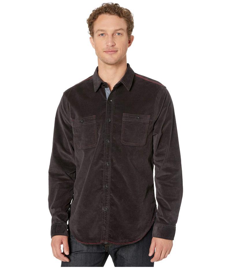トゥルーグリット メンズ シャツ トップス The Royalton Cotton Velvet Long Sleeve Two-Pocket Shirt Charcoal
